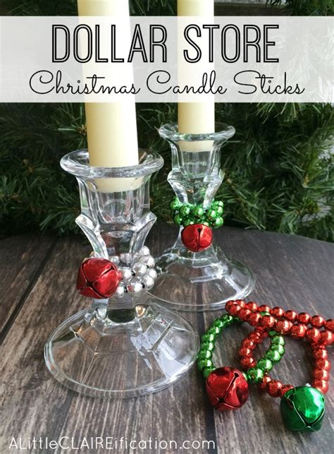 easy dollar store christmas candle sticks holiday crafts