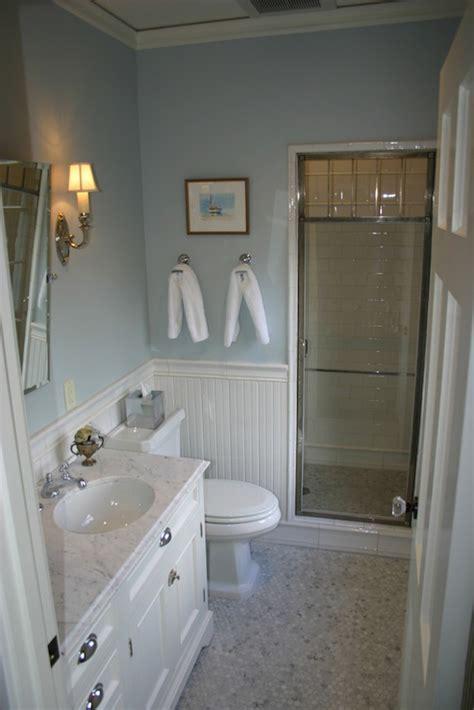 chrome  glass shower door transitional bathroom