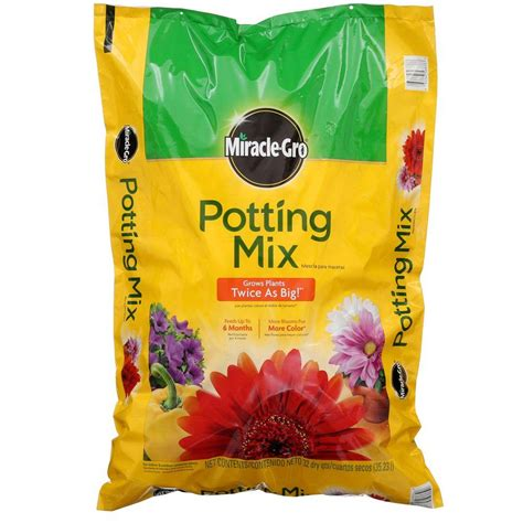 grow ls home depot miracle gro 32 qt potting mix 75683300 the home depot