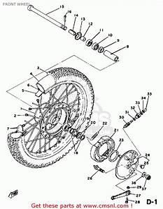 Yamaha Dt125 1978 Usa Front Wheel