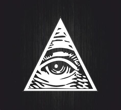 Illuminati Pyramid Eye Sticker Decal Wall Car Moto Biker Illuminati Pyramid