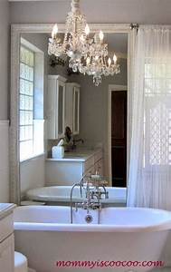 Remodelaholic how to remove and reuse a large builder for How to remove a mirror from bathroom wall