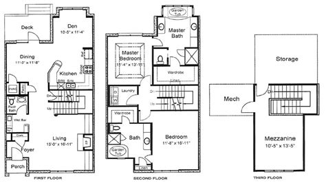 3 floor plans 3 home floor plans 3 bedroom house plans 3