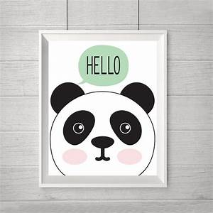 aliexpresscom buy new hello panda cartoon canvas oil With best brand of paint for kitchen cabinets with wall art for baby nursery