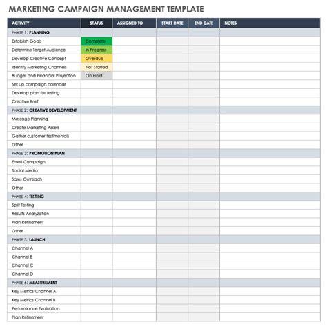 marketing campaign templates smartsheet