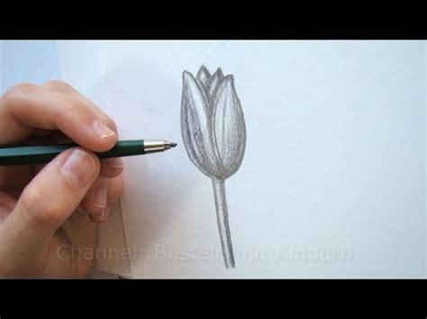 zeichnen lernen blume zeichnen tulpe bluete youtube