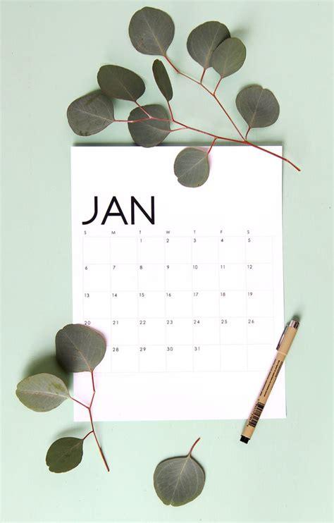 modern minimal printable calendar monthly planner piece