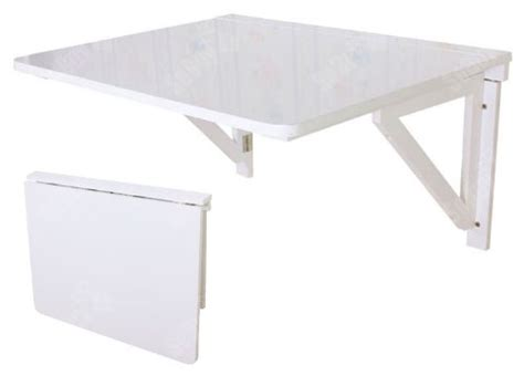 sobuy fwt05 w table murale rabattable pliable en bois 75 215 60cm table