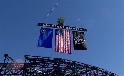 Final truss placed at new Allegiant Stadium   KLAS