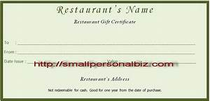 7 best images of make your own gift certificate printable With free restaurant gift certificate template