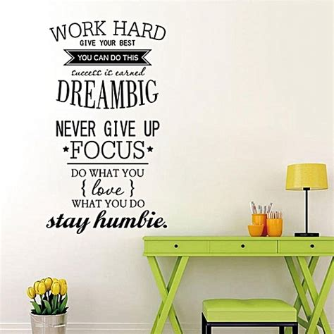 generic wall decals quotes work hard vinyl wall sticker