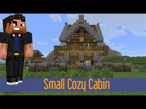 minecraft   build  small medieval rustic log cabin house  youtube