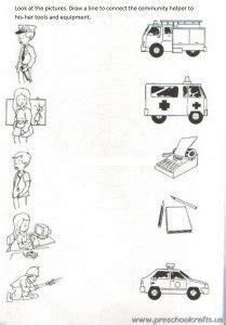 community helpers printable worksheets  kids