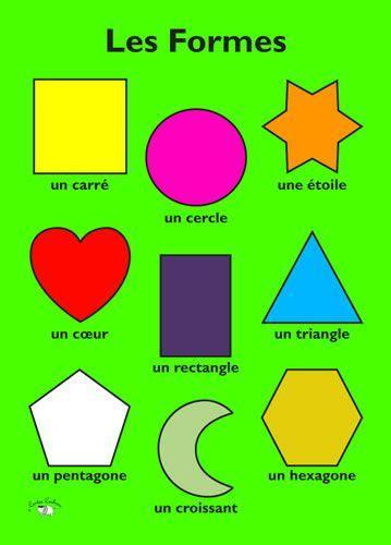 Poster (A3) - Les formes   Les couleurs en français, Carte ...