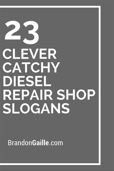 clever catchy diesel repair shop slogans catchy
