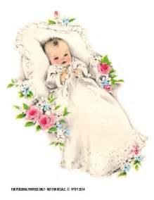 Vintage Baby Girl Clip Art Free