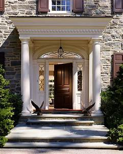 Covered front door entrances entry traditional with tuscan