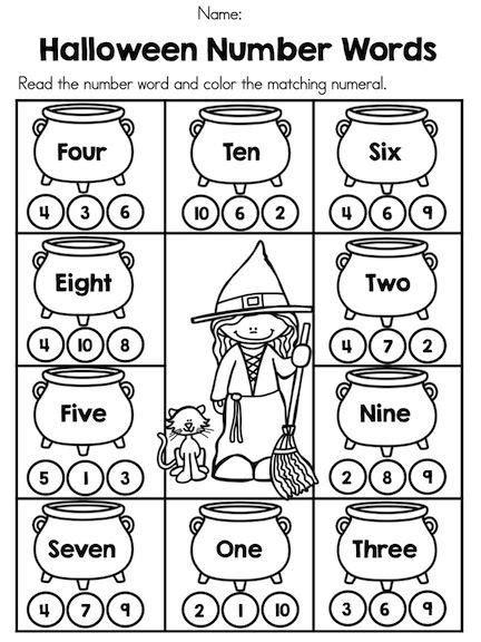 halloween kindergarten math worksheets halloween fun for