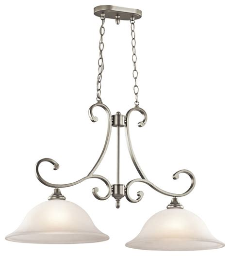 kichler lighting 43160ni brushed nickel island