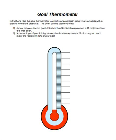 fundraising thermometer template 10 sle thermometer templates sle templates