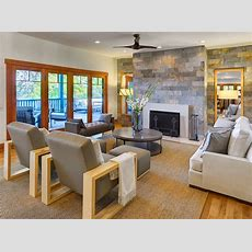 Lake House Great Room Living  Contemporary  Living Room