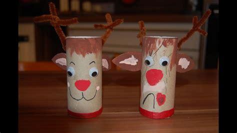weihnachtssachen zum selber basteln recycling basteln mit kindern ideen f 252 r weihnachten nikolaus teil 1 elch rentier rudi