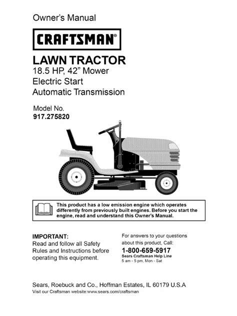 craftsman dlt  tractor manual transmission