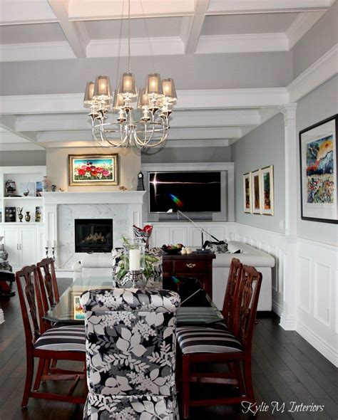Living Room Dining Room Gray by Traditional Modern Style Open Layout Living Room And