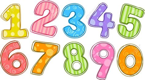 number clipart pencil and in color number clipart