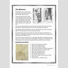Minotaur Reading Worksheet  Free Esl Printable Worksheets Made By Teachers