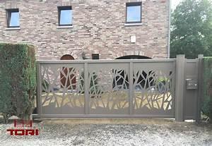 Portail Sur Mesure : portail coulissant aluminium sur mesure tori portails ~ Melissatoandfro.com Idées de Décoration