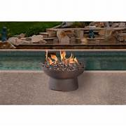 Cal Flame 48 In Natural Stone Propane Gas Fire Pit In Brown With Log Set And