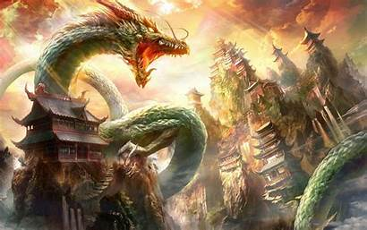 Dragon Chinese Wallpapers Oriental Cave Ferocious