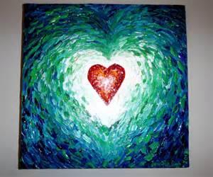 Acrylic Painting Blue Heart