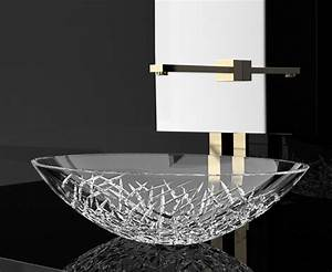 Demedici Ice Oval Crystal Vessel Sink - Contemporary