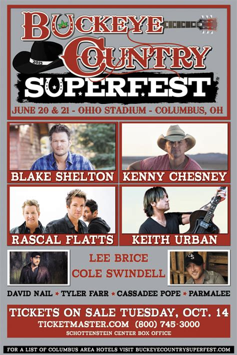 country fan fest 2017 lineup inaugural buckeye country superfest announced hometown