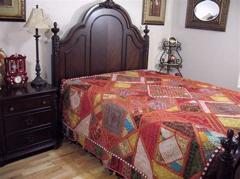 Buy Bed Covers by Embroidered India Inspired Bedding Decorative Handmade