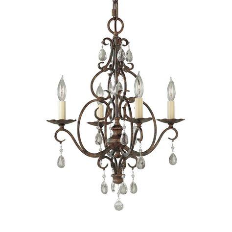 mini bronze chandelier feiss chateau 4 light mocha bronze mini chandelier f1904
