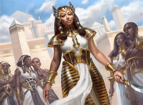mtg art honored crop captain  amonkhet set  sara