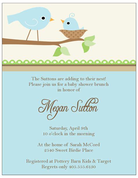 sweet peach paperie  birdie baby shower invitations