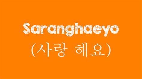 Ask anything you want to learn about saranghae. Arti Saranghaeyo Dalam Bahasa Indonesia - Freedomnesia