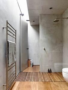 idee decoration salle de bain jolie salle de bain de With sol en bois salle de bain
