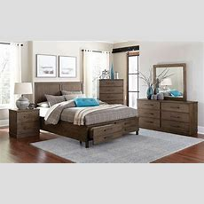 Beckham Rustic King Storage Bedroom  Haynes Furniture