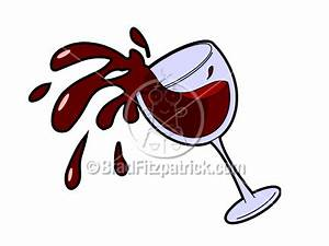 Spilled Wine Clipart
