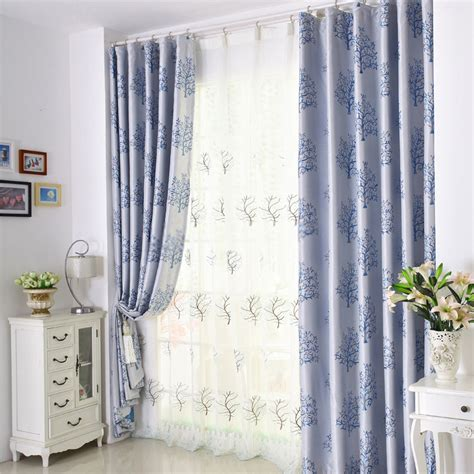 bright colored curtains discount thermal tree pattern home choice curtains in