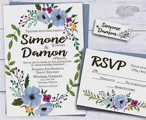 printable floral wedding invitations country wedding With free printable spring wedding invitations