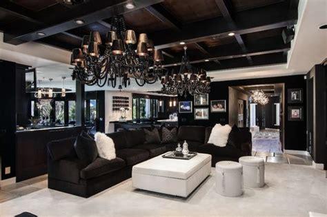 extravagant black living room designs