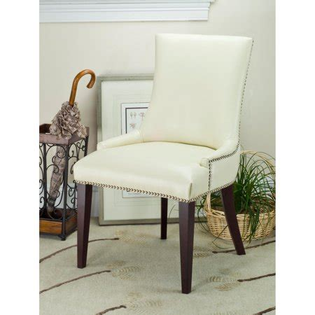 safavieh leather dining chairs safavieh becca dining chair leather walmart