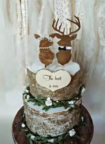 wooden wedding cake toppers deer wedding buck and doe wedding cake topper deer lover