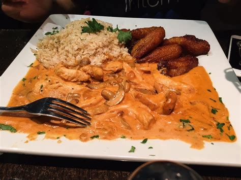 elite cuisine los angeles ca chicken stroganoff with plantains yelp